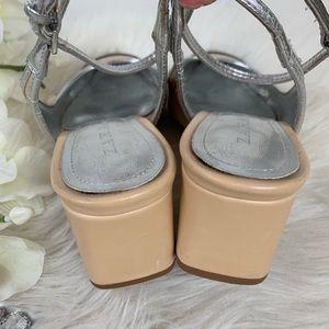 Zara Shoes - Zara Contrast Cap Toe Ankle Strap Heels 35